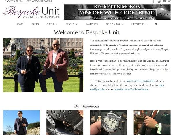 Bespoke Unit Magazine
