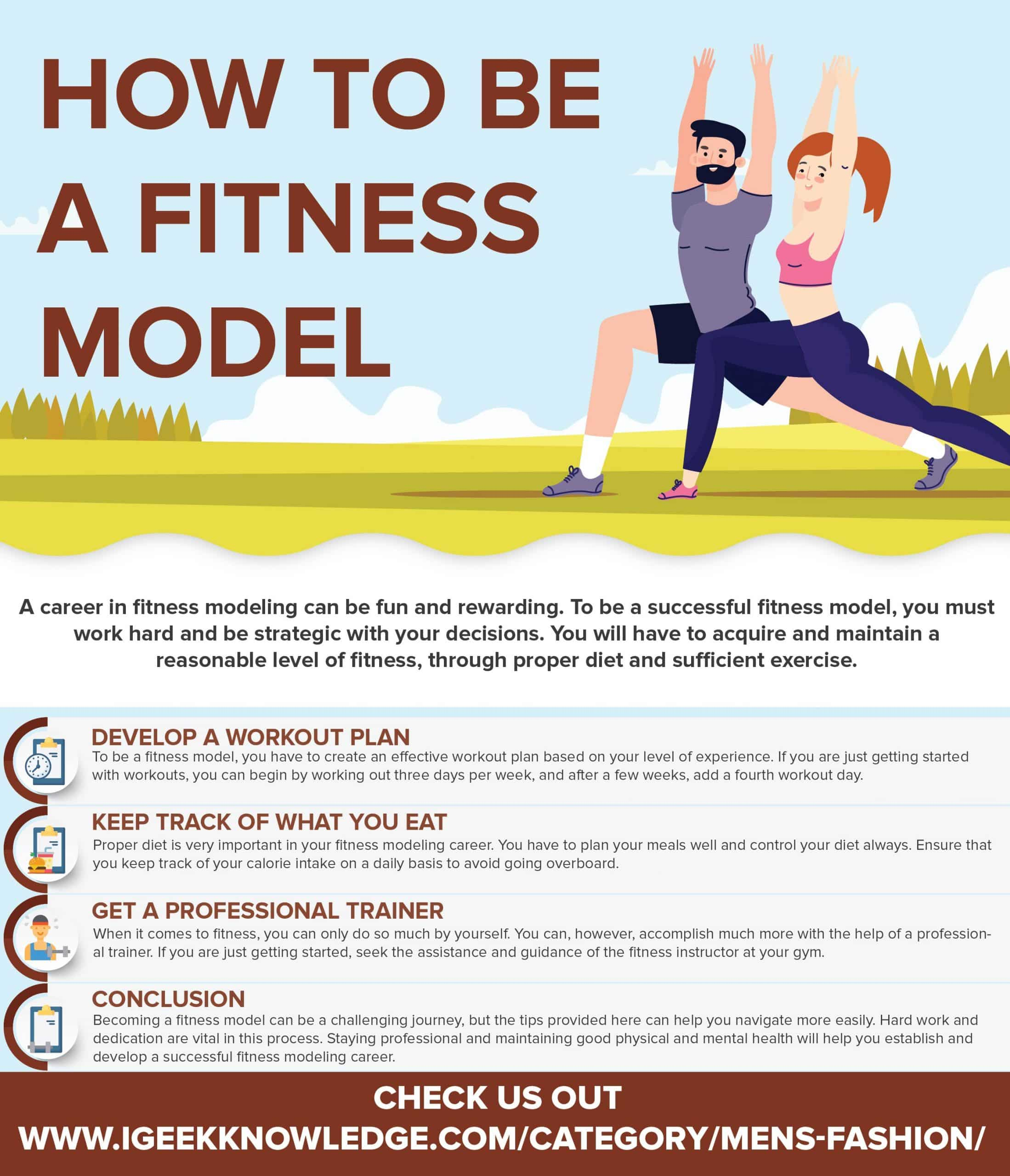how to be a fitness model